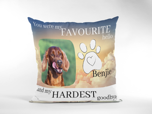 Personalized Dog Loss Cushion Cover