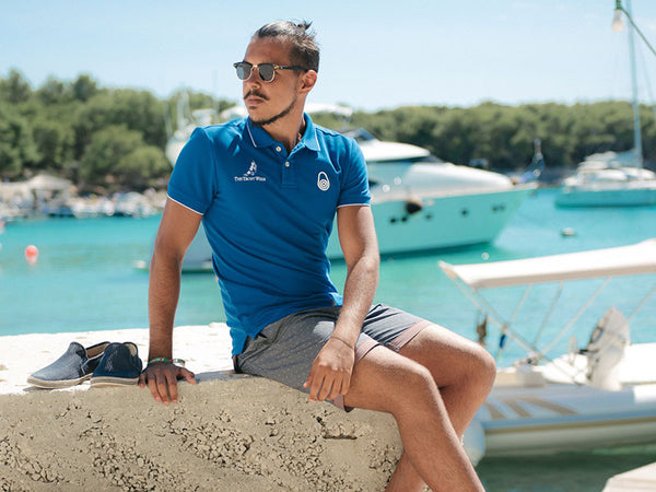 Mens Pique Polo 2016 Blue by Sail Racing