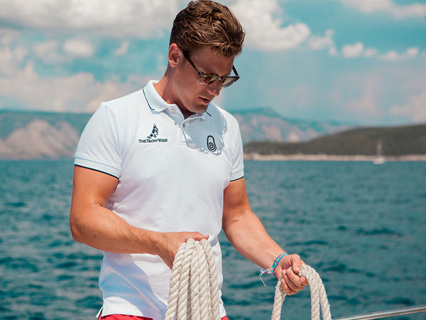 Mens Pique Polo 2016 White by Sail Racing