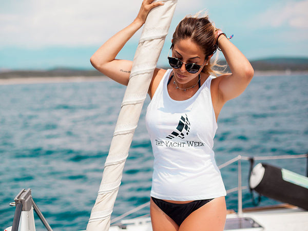 Womens Tank Top 2016 White by Sail Racing