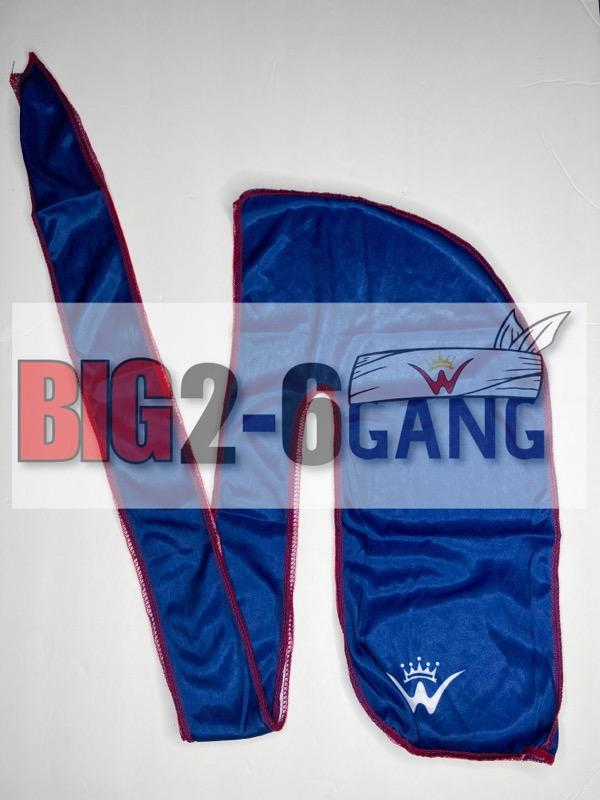 Navy - Plain Silk Durags - 26 King Wavy Merch, LLC