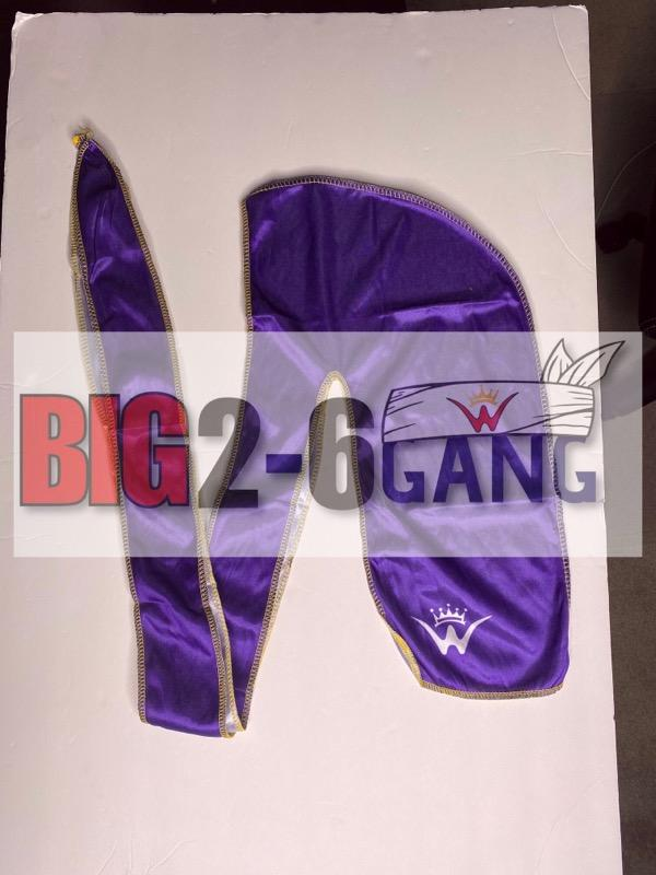 Purple - Plain Silk Durags - 26 King Wavy Merch, LLC