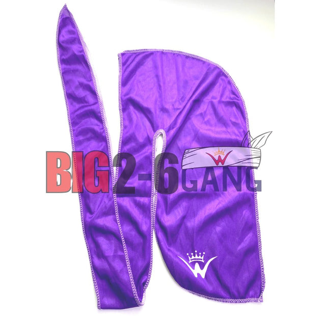 Purple- Plain Silk Durags - 26 King Wavy Merch, LLC