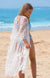 CRYSTALLINE WHITE BEACH LONG DRESS COVER UP
