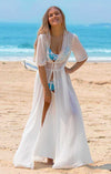 MILKY WHITE BEACH LONG DRESS COVER UP