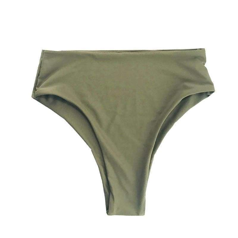 BAUDOUIN BIKINI BOTTOM IN KHAKI WILLOW,  Swimwear - PINKCOLADA