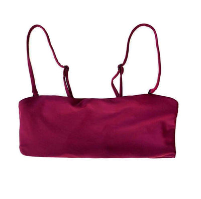 Bermuda Bikini Top In Mulberry Red - Australia Pinkcolada