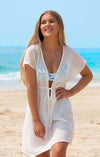 LORETTA WHITE BEACH DRESS COVER UP