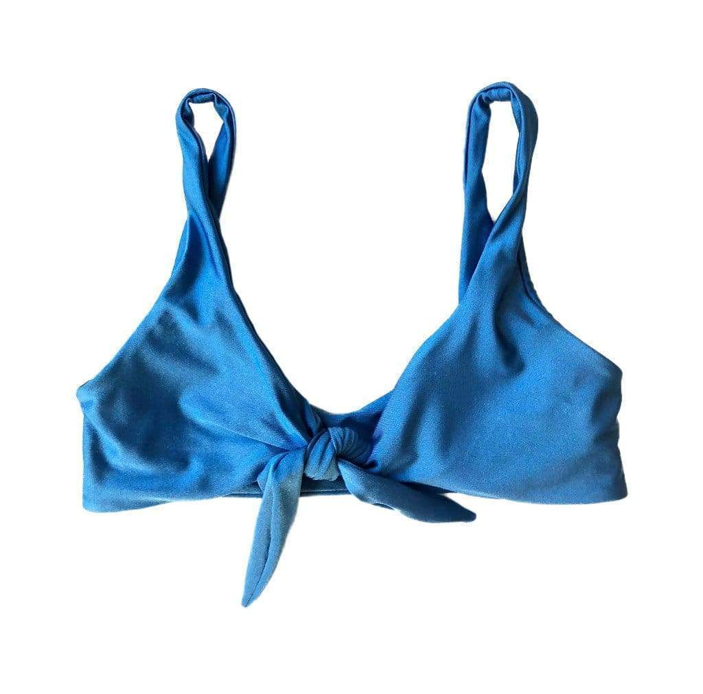 Tie Up Top In Azure Blue - Australia Pinkcolada