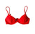 TROPEZ BIKINI TOP IN CORAL RED