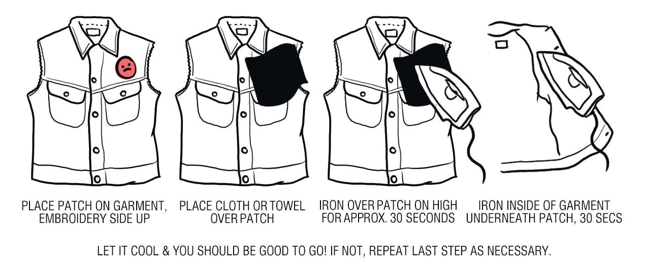 patch iron on