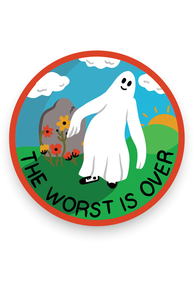 The Worst is Over Vinyl Sticker