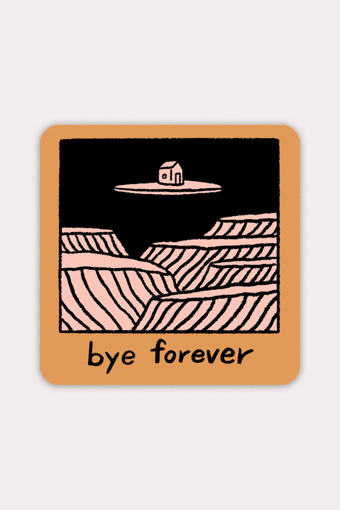 Bye Forever (House) Vinyl Sticker