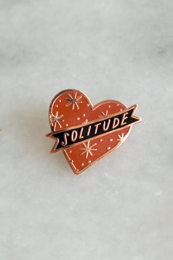 Red Solitude Pin