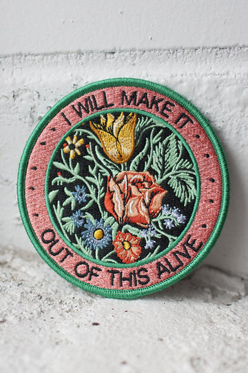 Alive iron-on patch