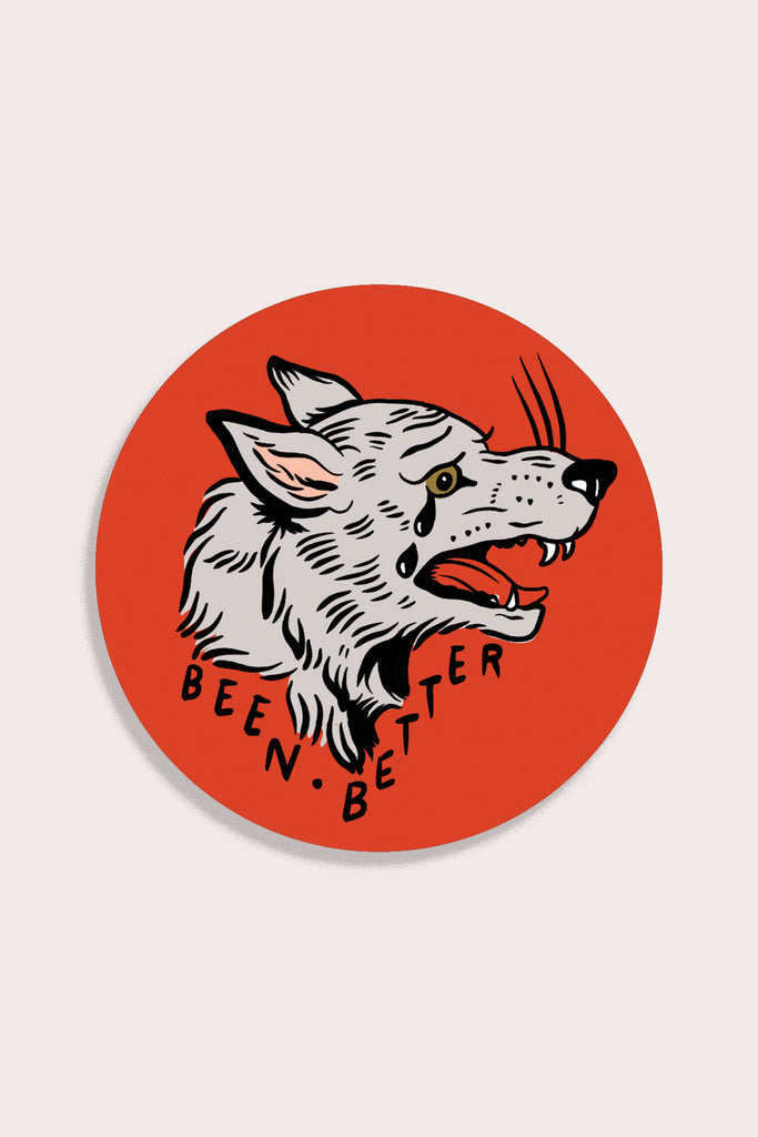 Been Better (Wolf) Vinyl Sticker