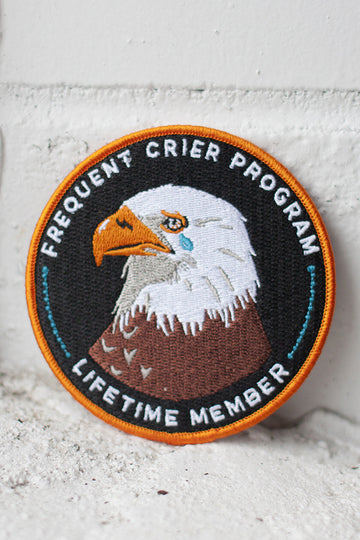 Frequent Crier iron-on patch