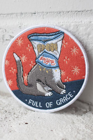 Full of Grace iron-on patch