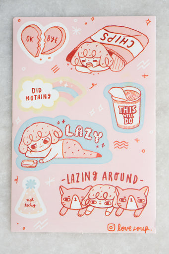 Lazy Sticker Sheet