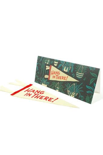 Hang In There Card & Pennant Set