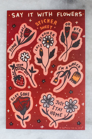 Say it with Flowers Sticker Sheet