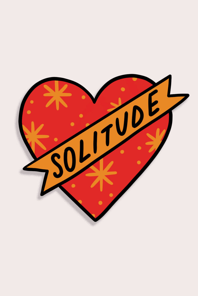 Solitude Vinyl Heart Sticker
