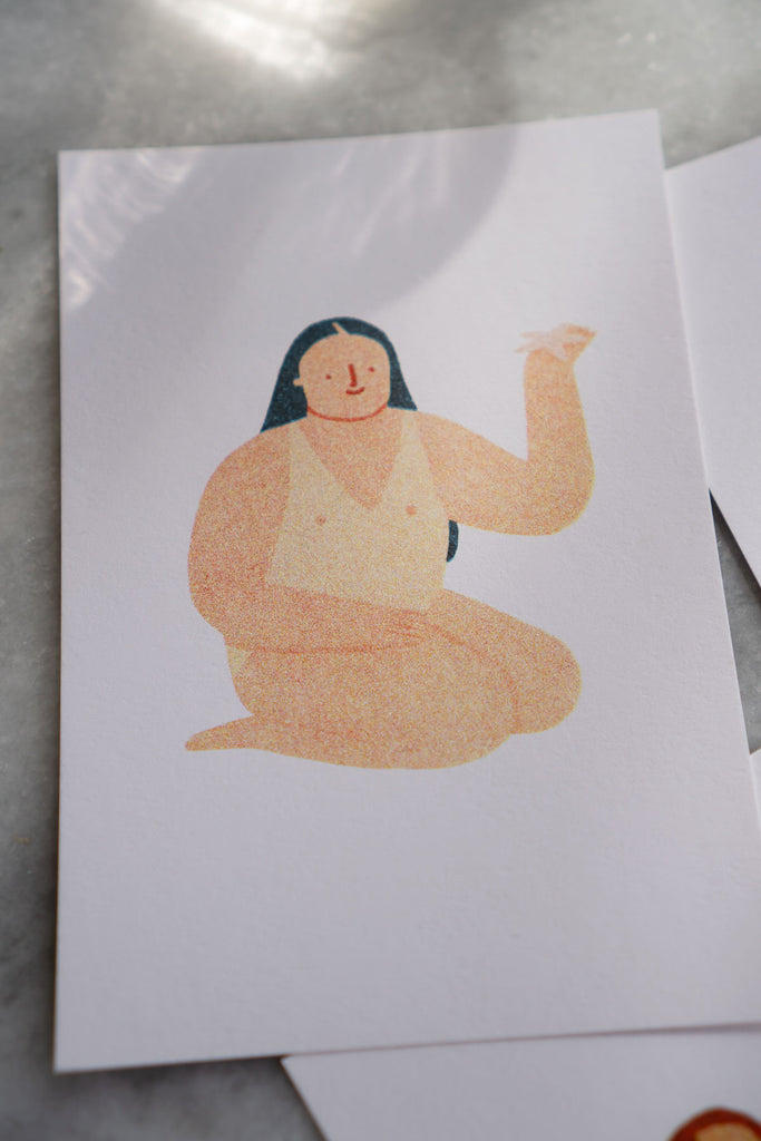 Sunbathers Mini Riso Print Set