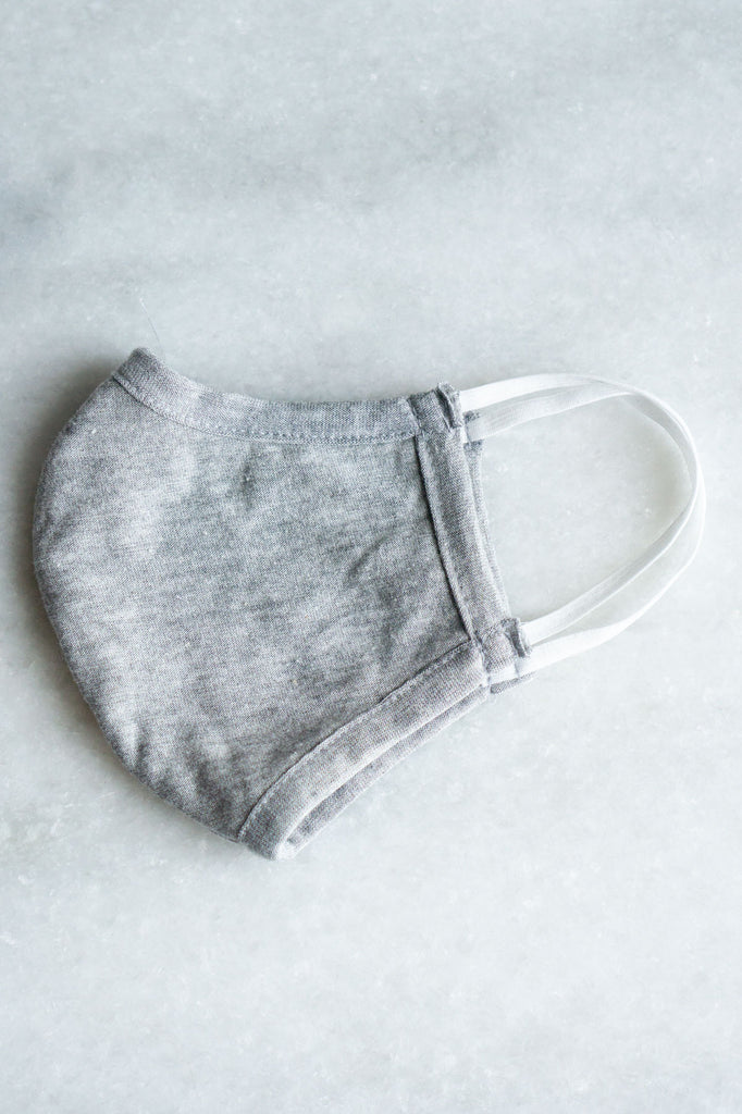 Plain Grey Face Mask