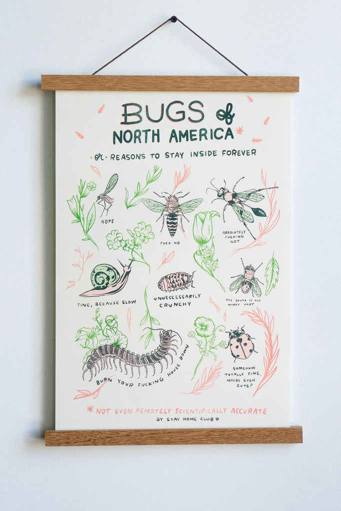 "Bugs of North America Riso Print - 11"" x 17"""