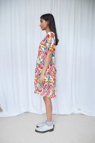Lighthouse dress - Folk floral