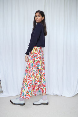 Space coyote skirt - Folk floral