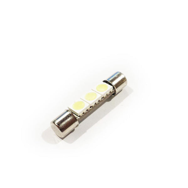 30mm Double Ended Fuse Style 3-LED bulb