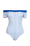 'Lana' Bow-Back One Piece in Marine Stripes
