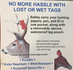 Reusable Buck Tags Pouches