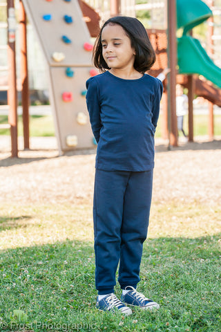 navy jogging pants - girls