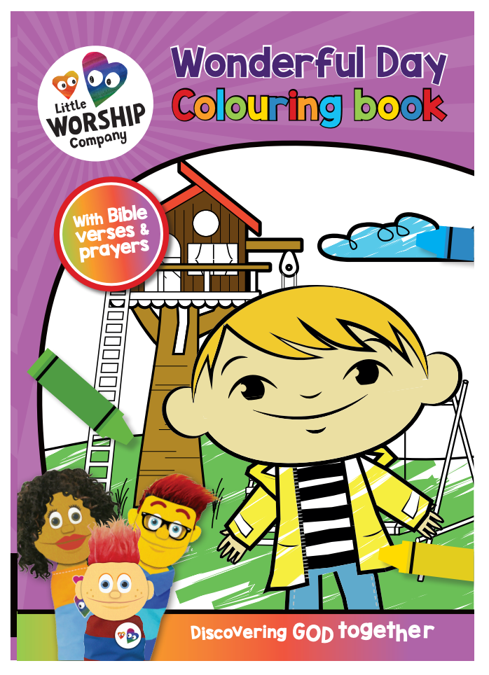 A Wonderful Day Colouring Book