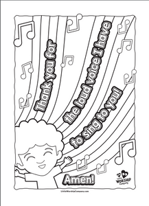 Praise Party Colouring Book