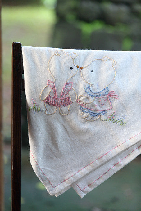 Polar Bear Cotton Flannel Blanket