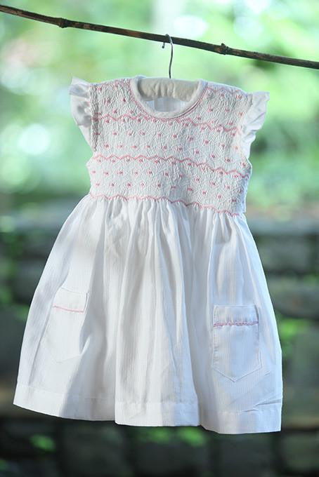 Short Sleeve Frock With 2 Pockets