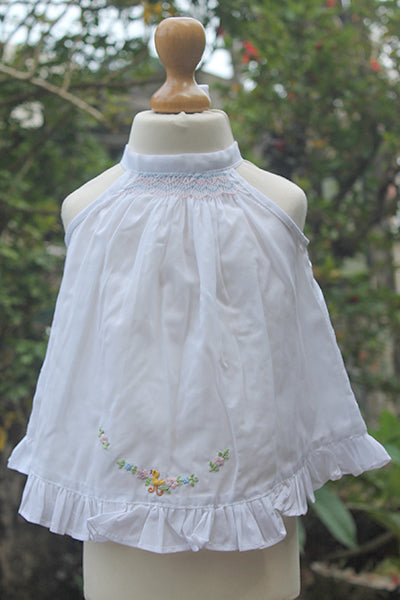 Light Fabric Smocked  Pinny Set