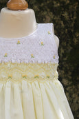 Dual Coloured Sleeveless Smocked Dress
