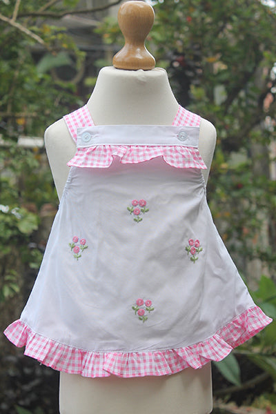 Pink N White Blended Dress Set