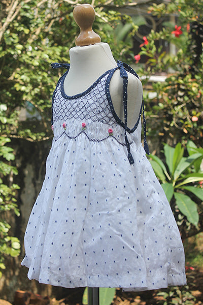 Polka Dotted Dress with Sash