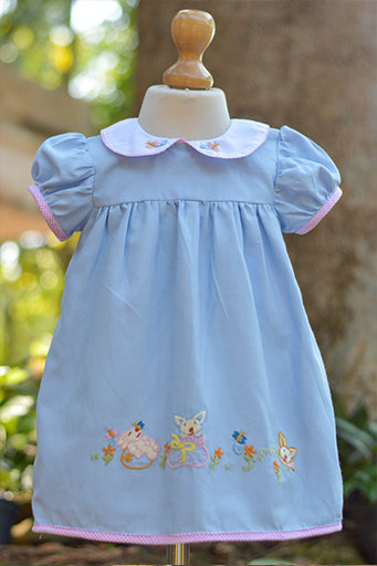 BLUE N PINK DENIM CLONE DRESS