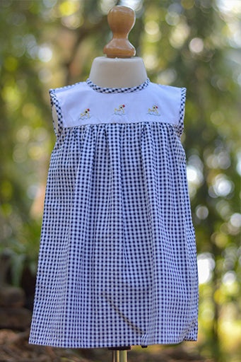 Ducky Duck Hand Embroidered Dress