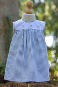Ducky Duck High Yoke Gingham Dress