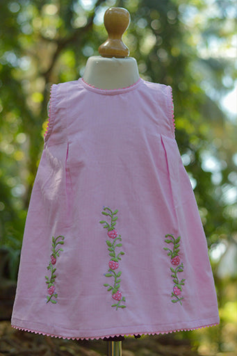 Strawberry Delight Corduroy Dress