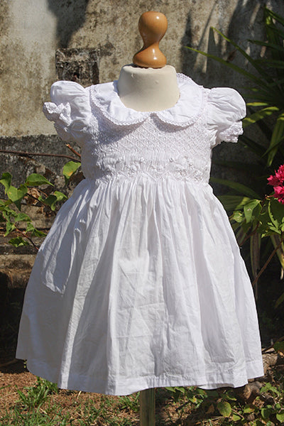 Peter Pan Collared White Dress