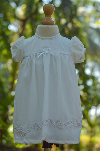 Hand Embroidered Christening Dress