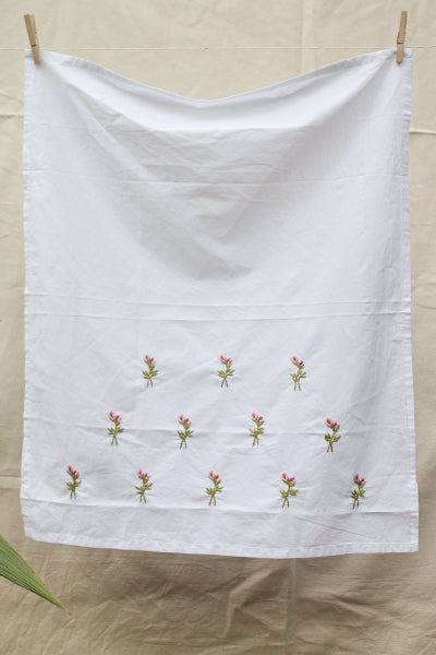 Rose n Pink Buds Cotton Sheet